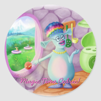 Reina Mabel y Cedric Pegatina Redonda