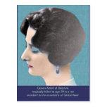 Reina manualmente handcolored Astrid de Bélgica Postal
