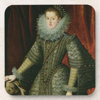 Reina Margarita de Austria, 1609 (aceite en lona) Posavasos De Bebida