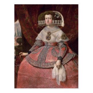 Reina Maria Ana de España en un vestido rojo Postal