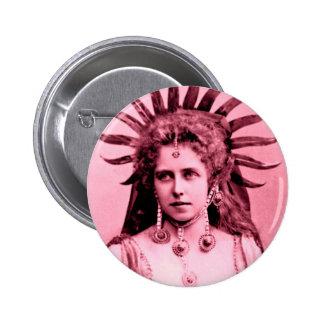 Reina Marie de Rumania como la reina de Sun - en Pin Redondo 5 Cm