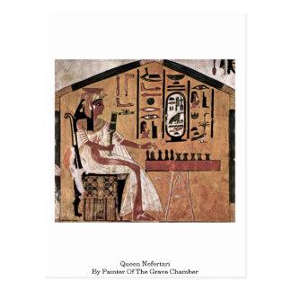Reina Nefertari del pintor de la cámara grave Postal