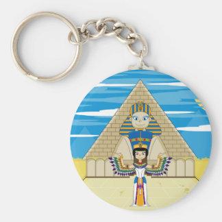 Reina Nefertiti en la gran esfinge Llaveros Personalizados