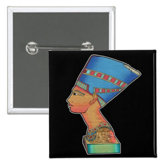 Reina Nefertiti Pin Cuadrado