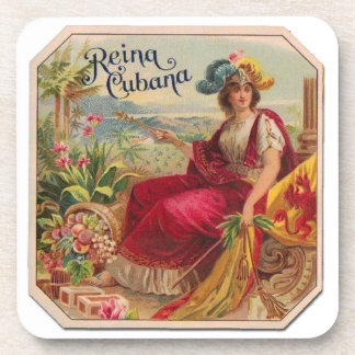 Reina of Cuba From Havana Cigarettes Vintage Drink Coaster