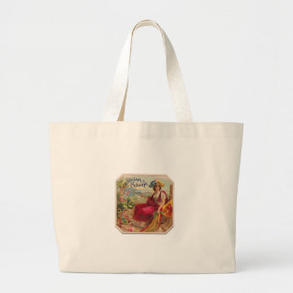 Reina of Cuba From Havana Cigarettes Vintage Large Tote Bag