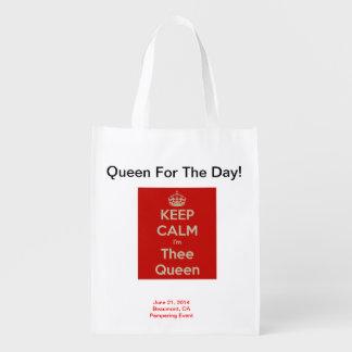 ¡Reina para el día! Bolso reutilizable y plegable Bolsas Para La Compra