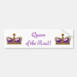Reina púrpura de la joya de la pegatina para el pa etiqueta de parachoque