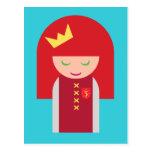 Reina Redheaded linda del guerrero de Kawaii Postales