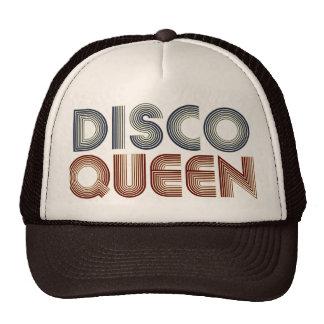 Reina retra de la música del disco 70s gorras