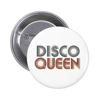 Reina retra de la música del disco 70s pins