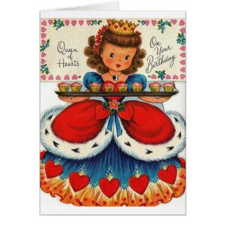 Reina retra de la tarjeta de felicitación del cump