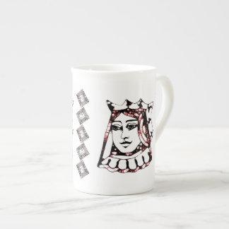 Reina roja taza de china