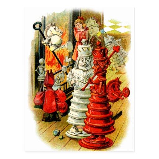 Reina roja y rey blanco Into el fuego Postales