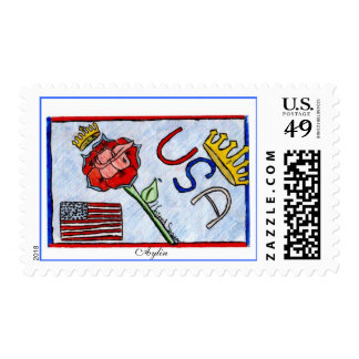 Reina Rosa Stamp