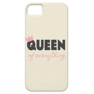Reina rosada y gris oscuro todo diseño del texto iPhone 5 Case-Mate cárcasa