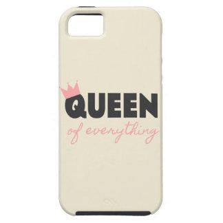 Reina rosada y gris oscuro todo diseño del texto iPhone 5 protectores