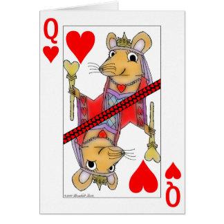 Reina sonriente de la rata de la tarjeta de la tar