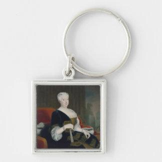 Reina Sophia Dorothea de Hannover Llavero Cuadrado Plateado