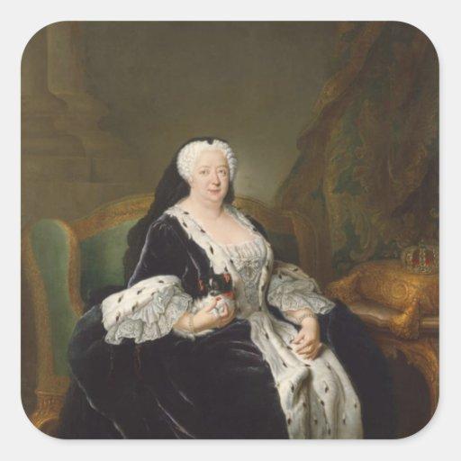 Reina Sophia Dorothea de Hannover Pegatinas Cuadradas