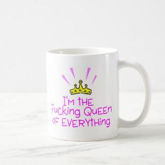 Reina todo corona taza de café