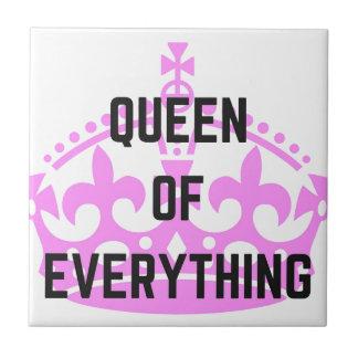 Reina todo ejemplo del texto de la corona azulejo cuadrado pequeño