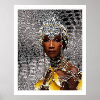 Reina tribal africana póster