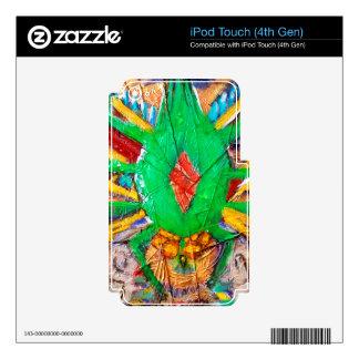 Reina verde azteca de la araña iPod touch 4G skins