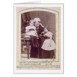 Reina Victoria (1819-1901) con sus nietos, Tarjeta De Felicitación