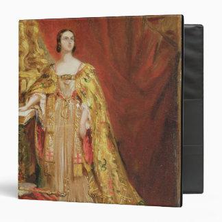 "Reina Victoria (1819-1901) que toma la coronación Carpeta 1 1/2"""