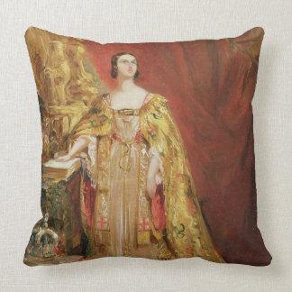 Reina Victoria (1819-1901) que toma la coronación Cojín