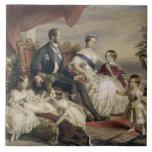 Reina Victoria (1819-1901) y Príncipe Alberto (181 Teja Cerámica