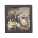 Reina Victoria (1819-1901) y Príncipe Alberto (181 Caja De Joyas De Calidad