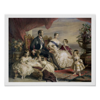 Reina Victoria (1819-1901) y Príncipe Alberto (181 Póster