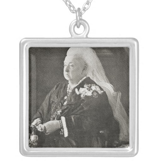 Reina Victoria c.1899 Colgante Cuadrado