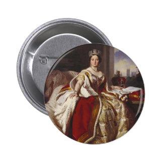 Reina Victoria: Coronación Pin Redondo De 2 Pulgadas