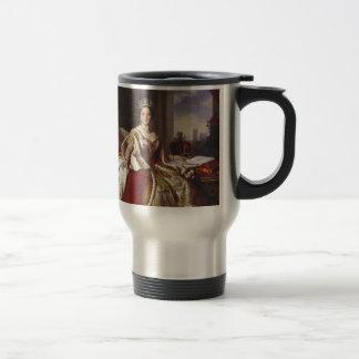 Reina Victoria: Coronación Taza De Viaje De Acero Inoxidable