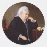 Reina Victoria de Heinrich von Angeli Etiquetas Redondas