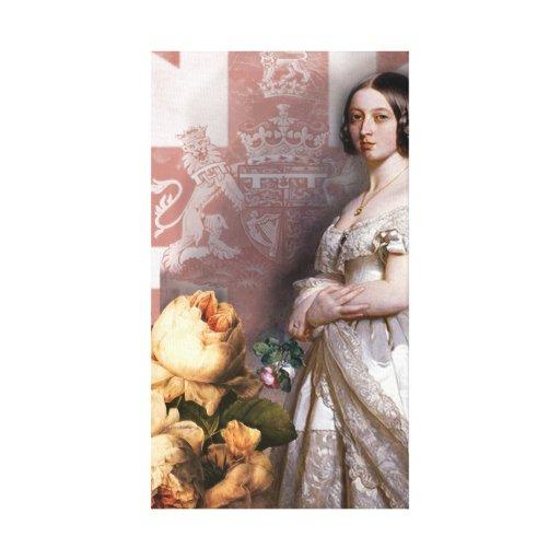 Reina Victoria del vintage Impresión De Lienzo