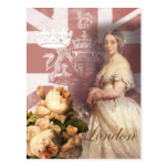 Reina Victoria Londres del vintage Tarjeta Postal
