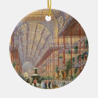 Reina Victoria que abre la exposición 1862 después Adorno Navideño Redondo De Cerámica