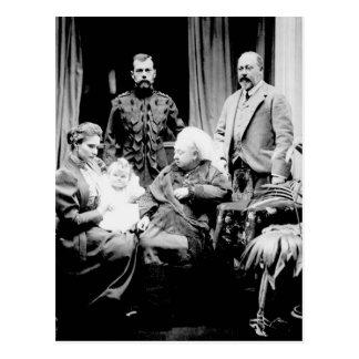 Reina Victoria, Tsar Nicolás II Postal