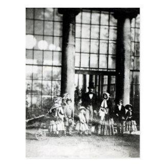 Reina Victoria y Príncipe Alberto con su Tarjetas Postales