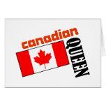 Reina y bandera canadienses felicitaciones