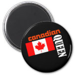 Reina y bandera canadienses imán de frigorifico