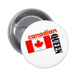 Reina y bandera canadienses pins