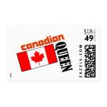 Reina y bandera canadienses sello
