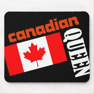 Reina y bandera canadienses tapetes de ratones