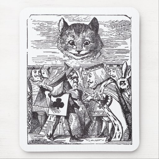 Reina y gato de Cheshire Alfombrilla De Ratón
