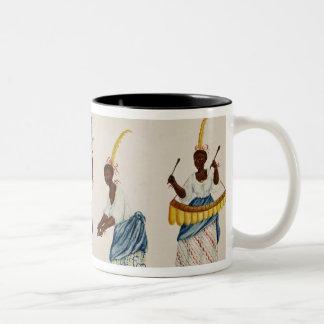 Reina y su habitación tazas de café
